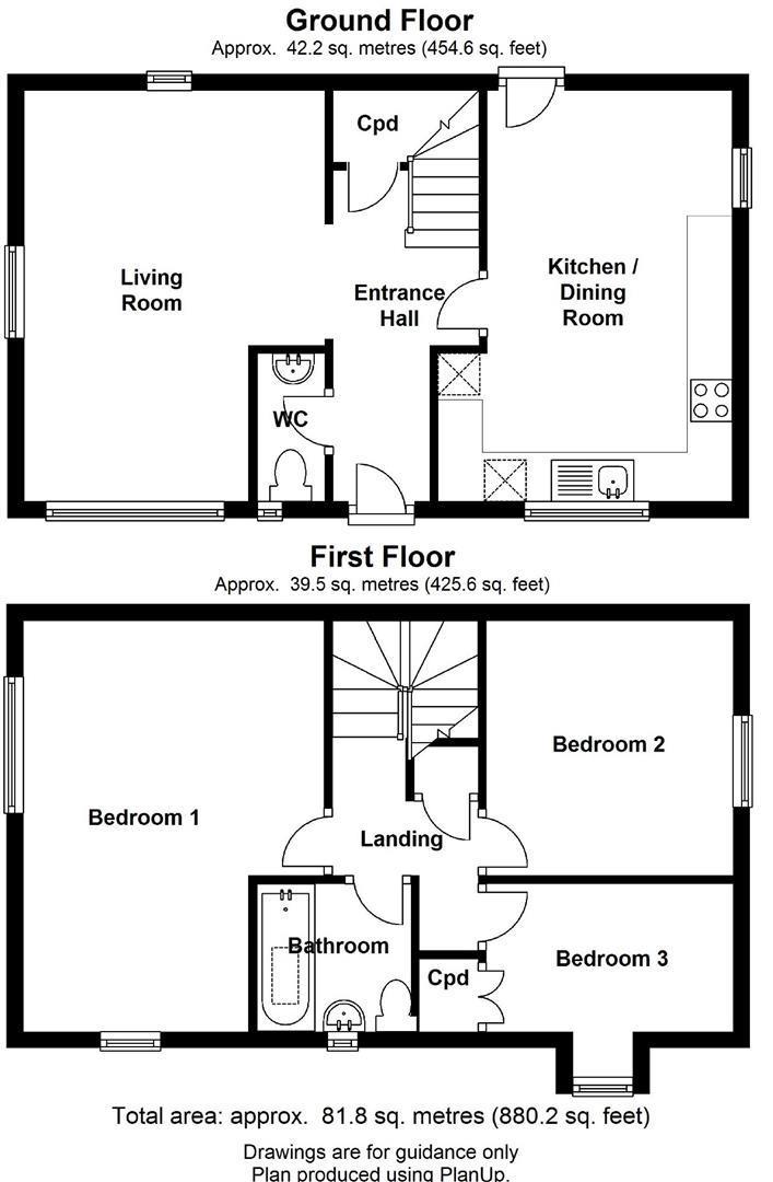 Floor plan Chesterton RoadCambridge